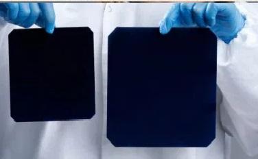Célula solar gran tamaño